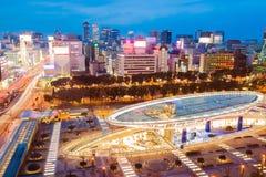 Nagoya, Japan city skyline in twilight Royalty Free Stock Photos