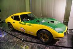 Nagoya, Japan - Maart 29, 2015: Toyota 2000GT bij het Automobiele Museum dat van Toyota wordt getoond Stock Fotografie