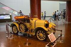 Nagoya Japonia, Marzec, - 29, 2015: Morris Oxford 1913 wystawiający przy Toyota samochodu muzeum Zdjęcie Stock