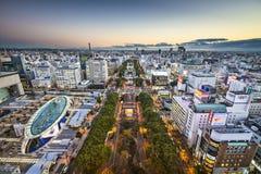 Nagoya, paysage urbain du Japon photographie stock