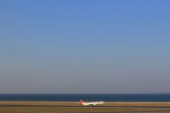 Nagoya, piste d'aéroport international de Chubu Centrair Photo libre de droits