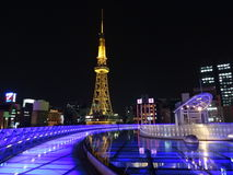 Nagoya Sakae. Nagoya TV Tower at night in Sakae district Royalty Free Stock Photography