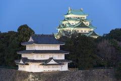 Nagoya-Schloss bei Sonnenuntergang, Japan Stockfotografie