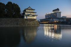 Nagoya-Schloss bei Sonnenuntergang, Japan Lizenzfreie Stockfotos