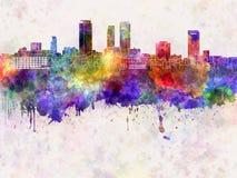 Nagoya skyline in watercolor Stock Photo