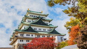 Nagoya slott i Japan Arkivfoto