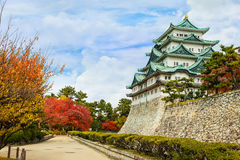 Nagoya slott i Japan Arkivfoton