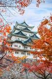 Nagoya slott i Japan Royaltyfria Foton