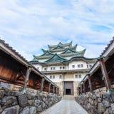 Nagoya slott i Japan Arkivbild