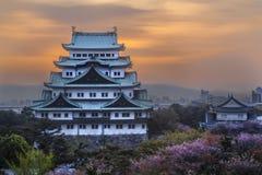 Nagoya slott i Nagoya, Japan Arkivbild