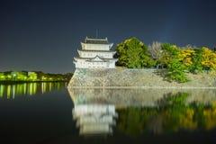 Nagoya slott på natten - Japan Arkivbild