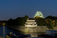 Nagoya slott på natten - Japan Royaltyfri Foto