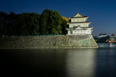 Nagoya slott på natten - Japan Arkivbilder