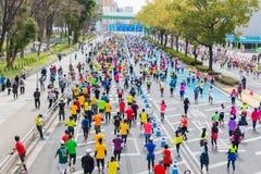 Nagoya-Stadt-Marathon 2016 stockfotografie
