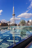Nagoya Television Tower in Sakae district. The oldest TV tower in Japan, completed in 1954. The tower is 180 metres high Royalty Free Stock Photos