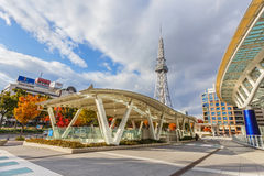 Nagoya Television Tower in Sakae district. The oldest TV tower in Japan, completed in 1954. The tower is 180 metres high Stock Images