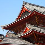 Nagoya temple. Nagoya, Japan - city in the region of Chubu in Aichi prefecture. Osu Kannon Buddhist temple of Shingon sect Royalty Free Stock Images