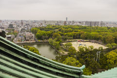 Nagoya from the top of the castle Royalty Free Stock Images