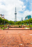 Nagoya TV Tower Brick Ground Park Walkway Royalty Free Stock Images