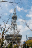 Nagoya tv tower in public location with dry branch. Stock Photos