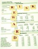 nagród ryzyka inwestycji Zdjęcia Stock