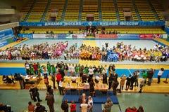 Nagradzać cheerleaders zespala się Wymarzonej drużyny Obrazy Stock