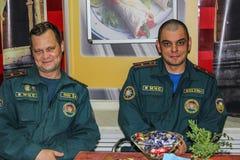 Nagradzać najlepszy pracowników emergencies ministerstwo Białoruś w Gomel regionie obrazy royalty free