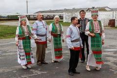 Nagradzać najlepszy pracowników rolniczy przemysł w Gomel regionie republika Białoruś Obraz Stock