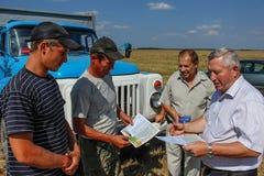 Nagradzać najlepszy rolniczych pracowników w Gomel regionie Białoruś Zdjęcie Royalty Free