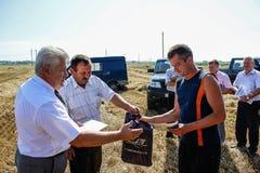 Nagradzać najlepszy rolniczych pracowników w Gomel regionie Białoruś Obrazy Stock