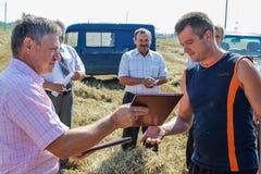 Nagradzać najlepszy rolniczych pracowników w Gomel regionie Białoruś Zdjęcia Royalty Free