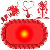 nagradza łęku prezenta czerwień zdjęcie royalty free