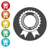 Nagradza z bobek ikonami ustawiać ilustracja wektor