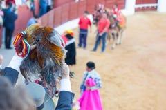 Nagradzający bullfighter zdjęcia stock