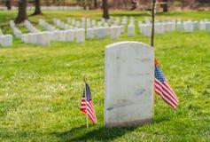 Nagrobek przy Arlington Krajowym cmentarzem z USA zaznacza obraz stock
