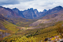 Nagrobku pasma górskiego Yukon terytorium Kanada Obrazy Stock
