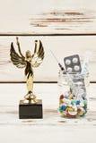 Nagroda i leki w szkle Zdjęcie Royalty Free