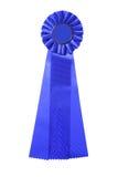 nagroda niebieski odizolowany tasiemkowy white Fotografia Royalty Free