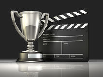 Nagroda Wygrany film Fotografia Stock