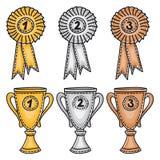 nagrody brązowieją setu złocistego srebro Fotografia Stock