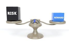 Nagrody i ryzyka równowaga, 3d Fotografia Stock