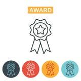 Nagrody ikona w modnym kreskowym stylu odizolowywającym ilustracja wektor