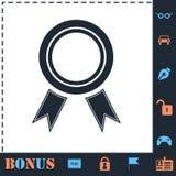 Nagrody ikony mieszkanie royalty ilustracja