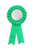 nagrody odznaki zielone wstążki Fotografia Stock