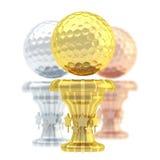 Nagrody piłki golfowej sporta trofeum filiżanka Zdjęcia Royalty Free
