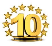 10 nagrody wierzchołek ilustracja wektor