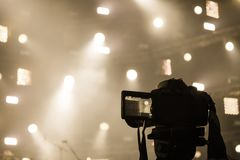 Nagrywać kamera od koncertowego miejsca zdjęcia royalty free