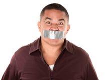 nagrywający mężczyzna latynoski usta obrazy stock