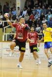 Nagyatad contra o jogo do handball do veszprem Foto de Stock Royalty Free