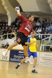 Nagyatad contra o jogo do handball do veszprem Imagem de Stock